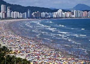 2198abada Praia Ponta da Praia em Santos - SP